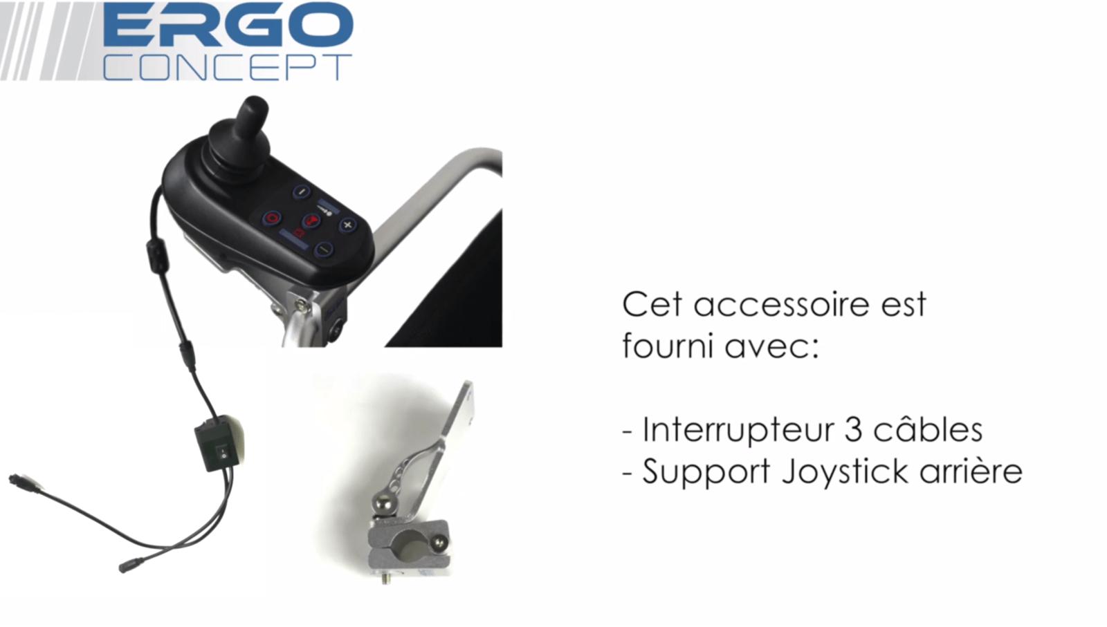 Interrupteur 3 câbles vidéo ergoconcept